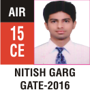 Peeyush Kr. Shrivastav, GATE 2016, RANK 15